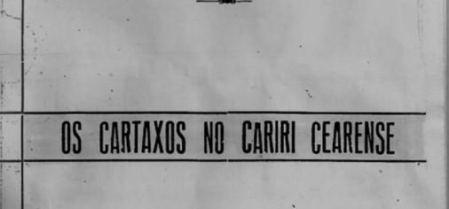 Livro Os Cartaxos no Cariri Cearense