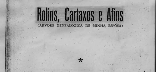 Livro Rolins Cartaxos e Afins